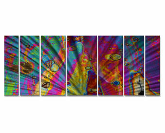 Trip Through the Sixties Psychedelic Seven-Panel Metal Wall Art