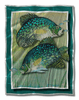 Turquoise Pair Tropical Fish Art