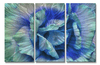Unfolding Turquoise Floral Wall Art