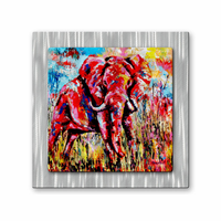 Vibrant Savannah Elephant Art