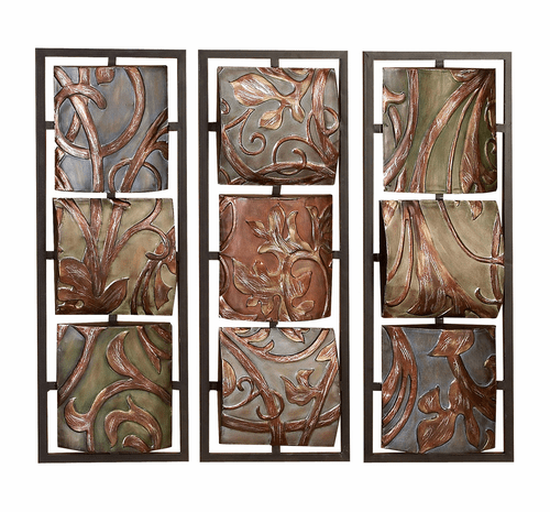Vines and Foliage 3D Wall Hanging Set of 3