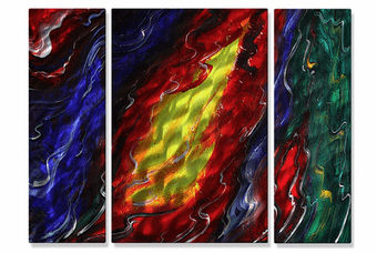 Vivid Rivulets Abstract Art