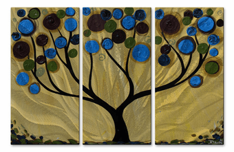 Vivid Silhouette Tree Wall Panels