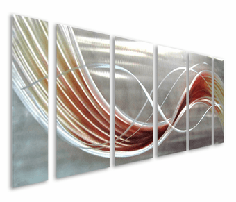 Wanderlust Six-Panel Abstract Aluminum Wall Hanging