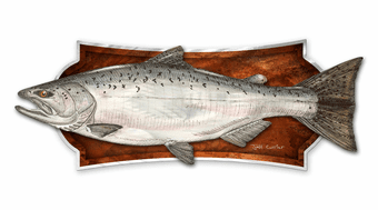 White Fish Wall Plaque