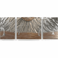 Windswept Trees Contemporary Wall Hanging Set of 3