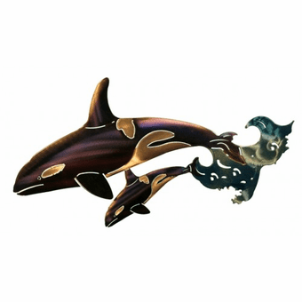 Winsome Whales Metal Wall Hanging