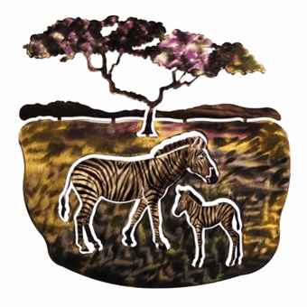 Zany Zebras Safari Metal Art