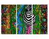 Zealous Zebra Metal Wall Art