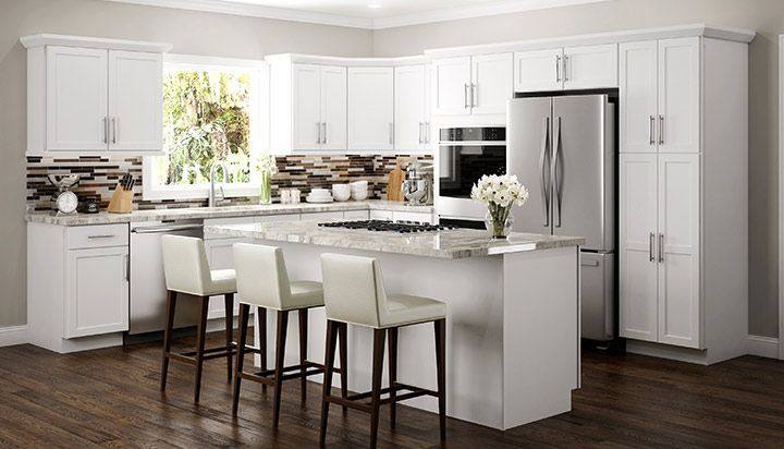 Amesbury White Kitchen Cabinets