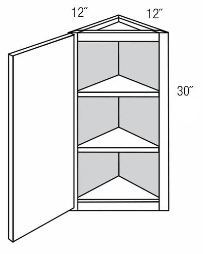 AW30: Wall Angle End Cabinet: Dover Castle RTA Kitchen Cabinet
