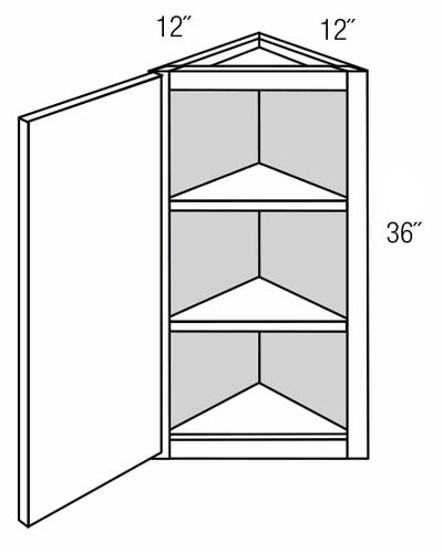 AW36: Wall Angle End Cabinet: Dover Castle RTA Kitchen Cabinet