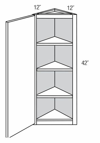 AW42: Wall Angle End Cabinet: Dover Castle RTA Kitchen Cabinet