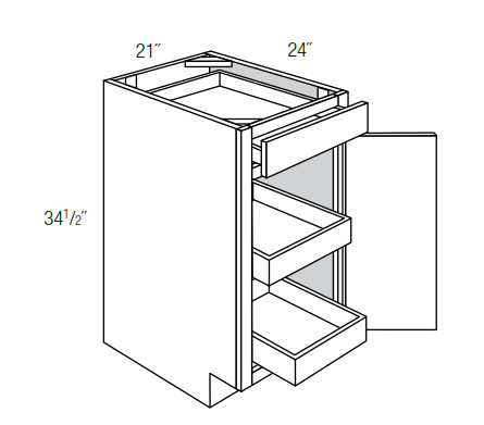 B21SCRT: Base Cabinet With Soft Close Rollouts: Upton ...