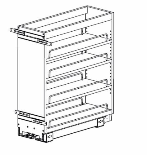BF09PULL: Base Pull-Out: Norwich Recessed RTA Kitchen Cabinet