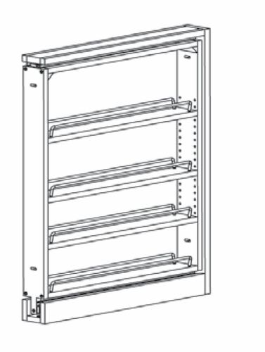 BF3PULL: Base Filler Pull Out: Branford Recessed RTA Kitchen Cabinet