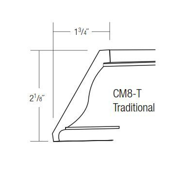 CM8-T: Traditional Crown Molding: Yarmouth Raised RTA Kitchen Cabinet