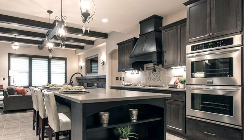 Dartmouth Grey Stain Kitchen Cabinets