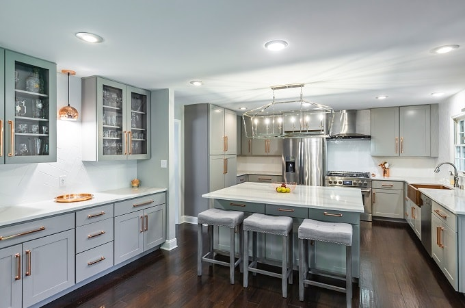 Dartmouth Pewter Paint Kitchen Cabinets