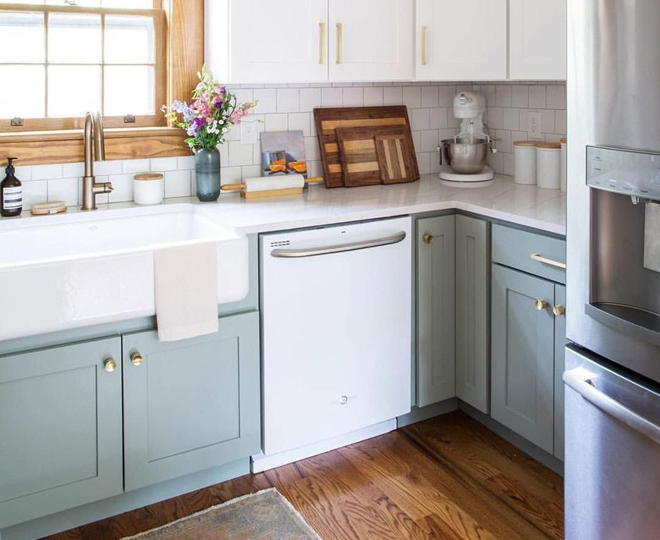Dartmouth Seabreeze Paint Kitchen Cabinets