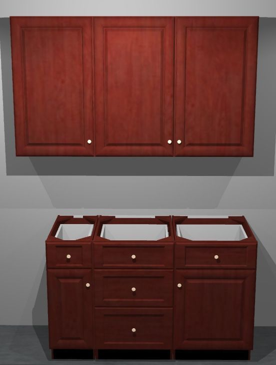 K-Series Cherry Glaze Cabinets for Sale