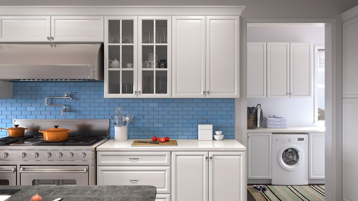 Forevermark-TSG K-Series White 10x10 Kitchen Cabinets