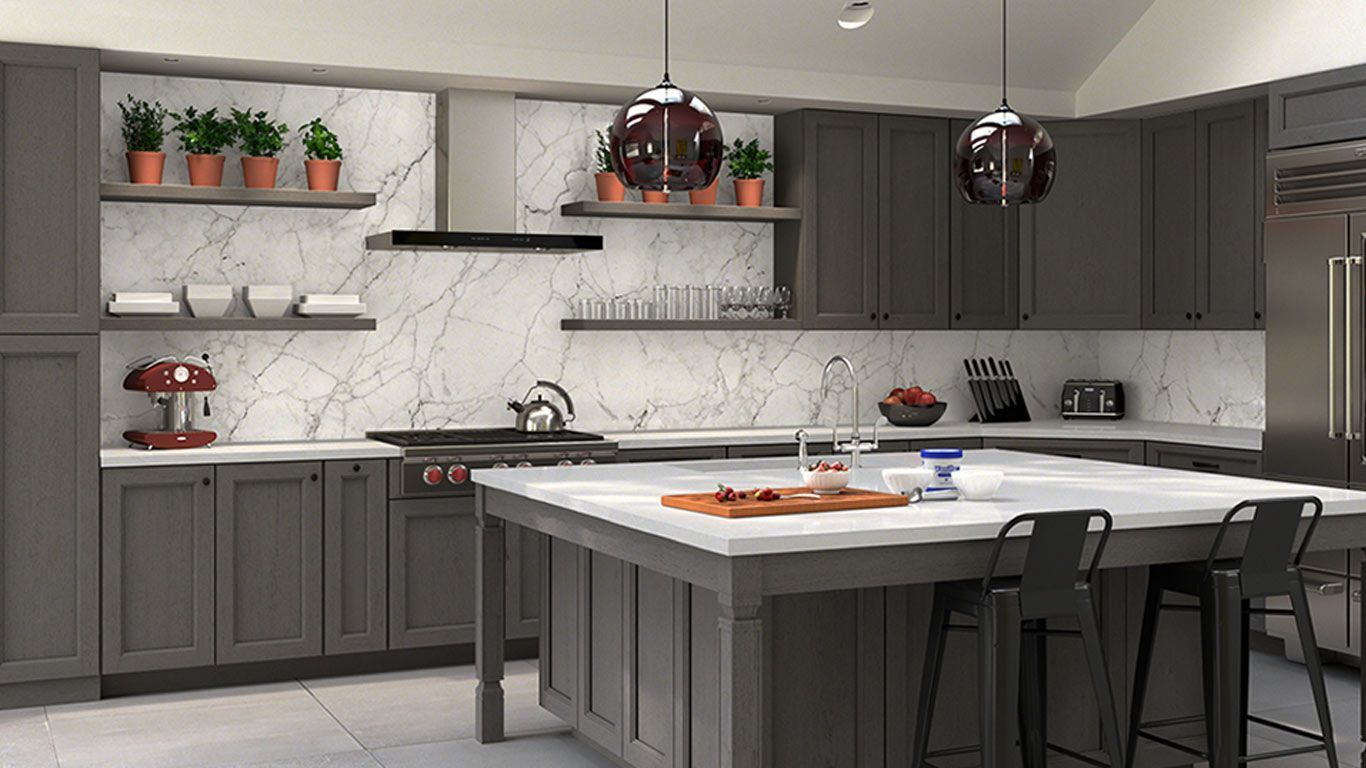 Forevermark-TSG Townsquare Grey 10x10 Kitchen Cabinets