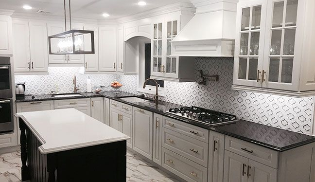 Gramercy White Kitchen Cabinets