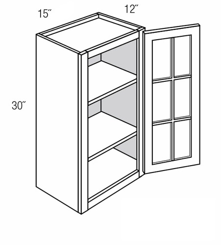 Prairie Style Kitchen Cabinets: PGW1830: Wall Cabinet With Prairie Style (Mullion) Glass