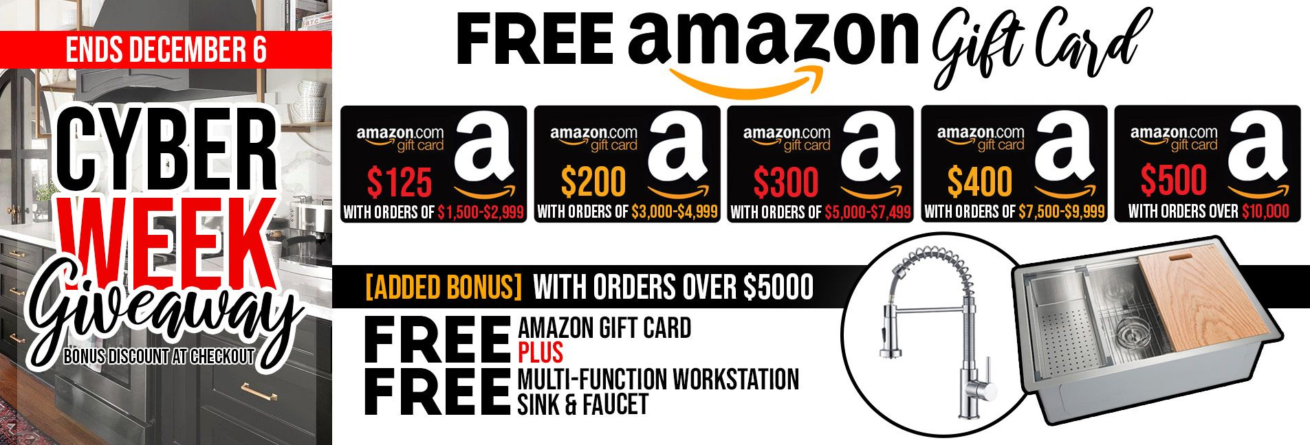 Cyber Week FREE Amazon Gift Card