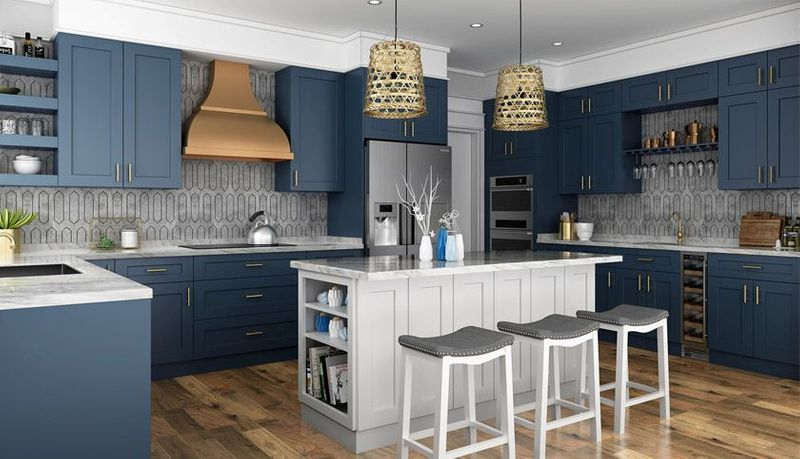 Imperial Blue Kitchen Cabinets