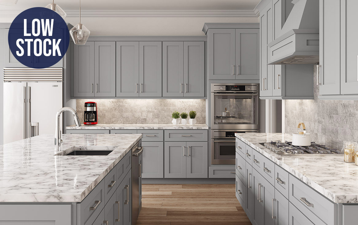 Lait Grey Shaker Kitchen Cabinets