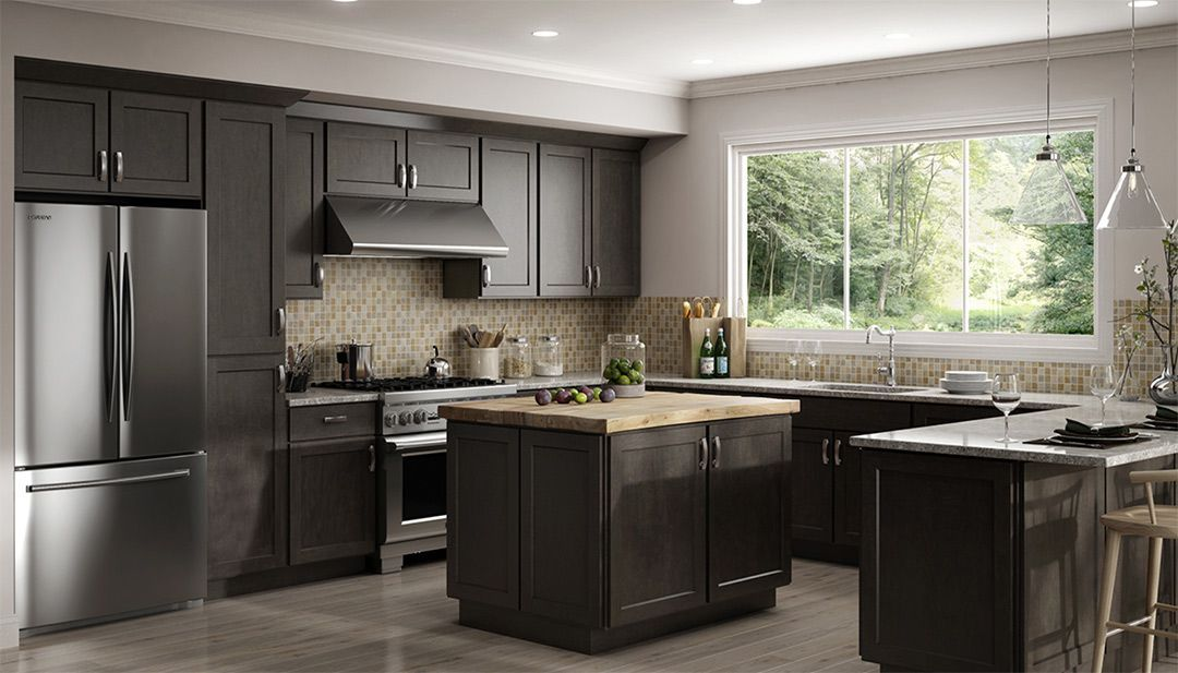 Luxor Smoky Grey Kitchen Cabinets