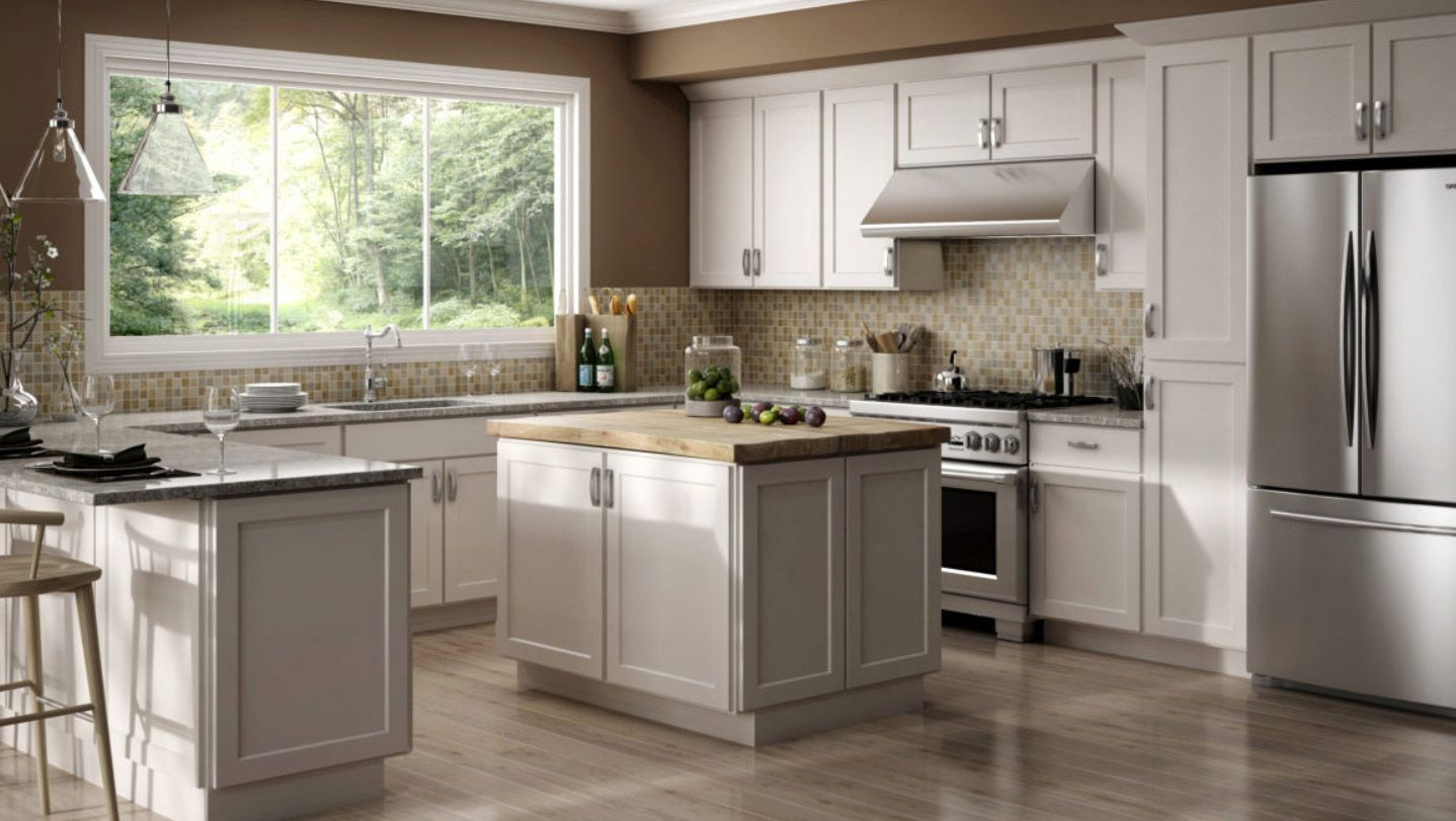 Luxor White Kitchen Cabinets