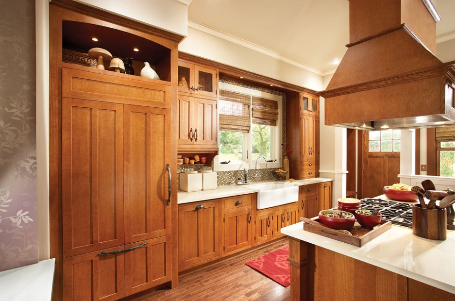 Medallion Hudson Falls, Trinity And Gable Kitchen Cabinets