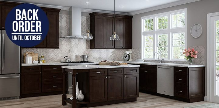 Quincy Espresso Kitchen Cabinets