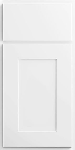 SBF13.5: Sample Door: Luxor White Kitchen Cabinets