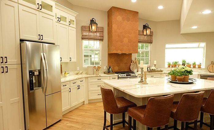 Shaker Antique White Kitchen Cabinets