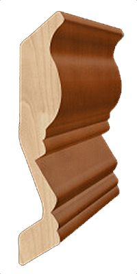 Slgcrown4 Large Crown Molding Top Mount Dartmouth Brownstone Kitchen Cabinet