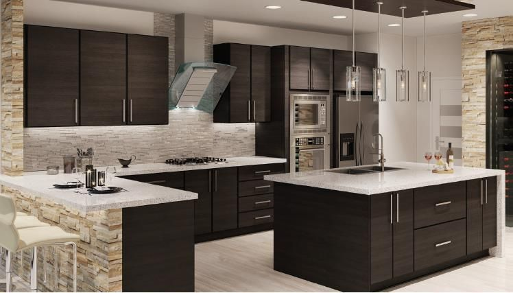 Torino Dark Wood Kitchen Cabinets