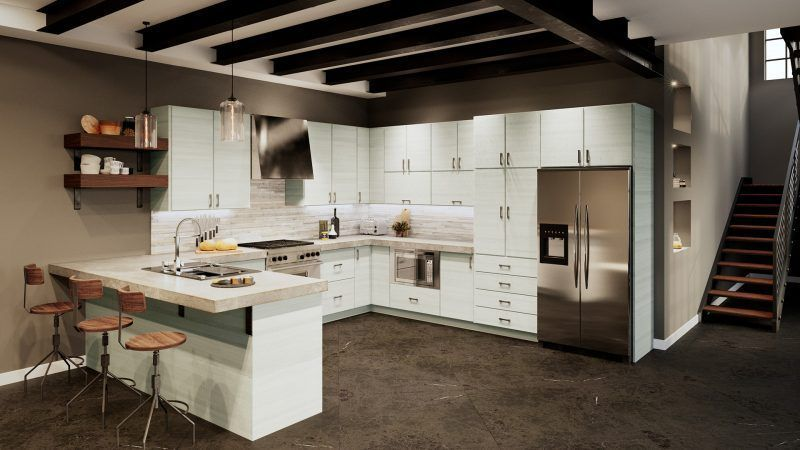 Torino White Pine Kitchen Cabinets