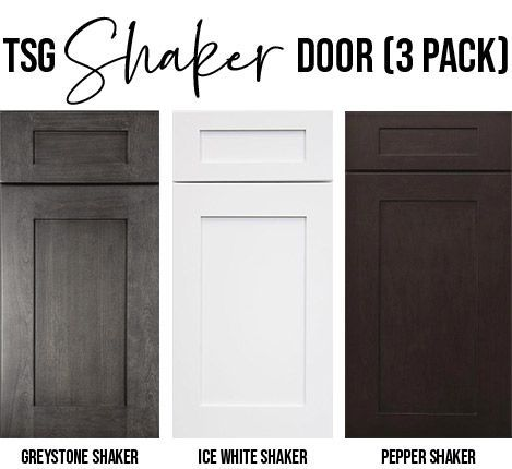 Forevermark 3 Pack: Shaker Sample Doors