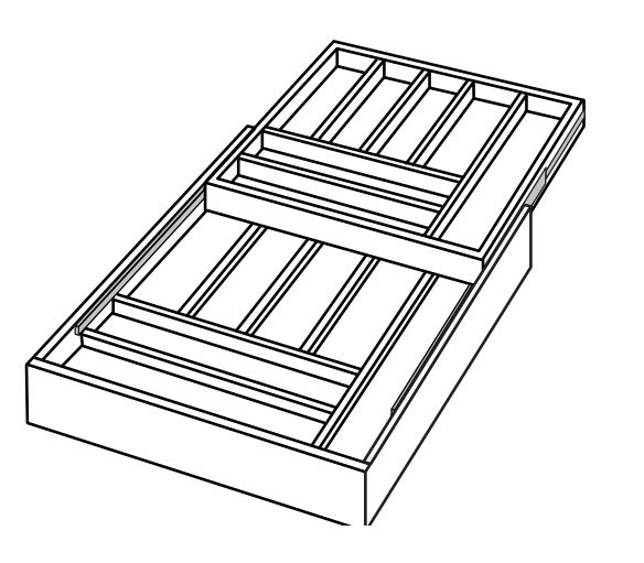 CUTTRAY: Trimmable Cutlery Tray: Kingston RTA Kitchen Cabinet