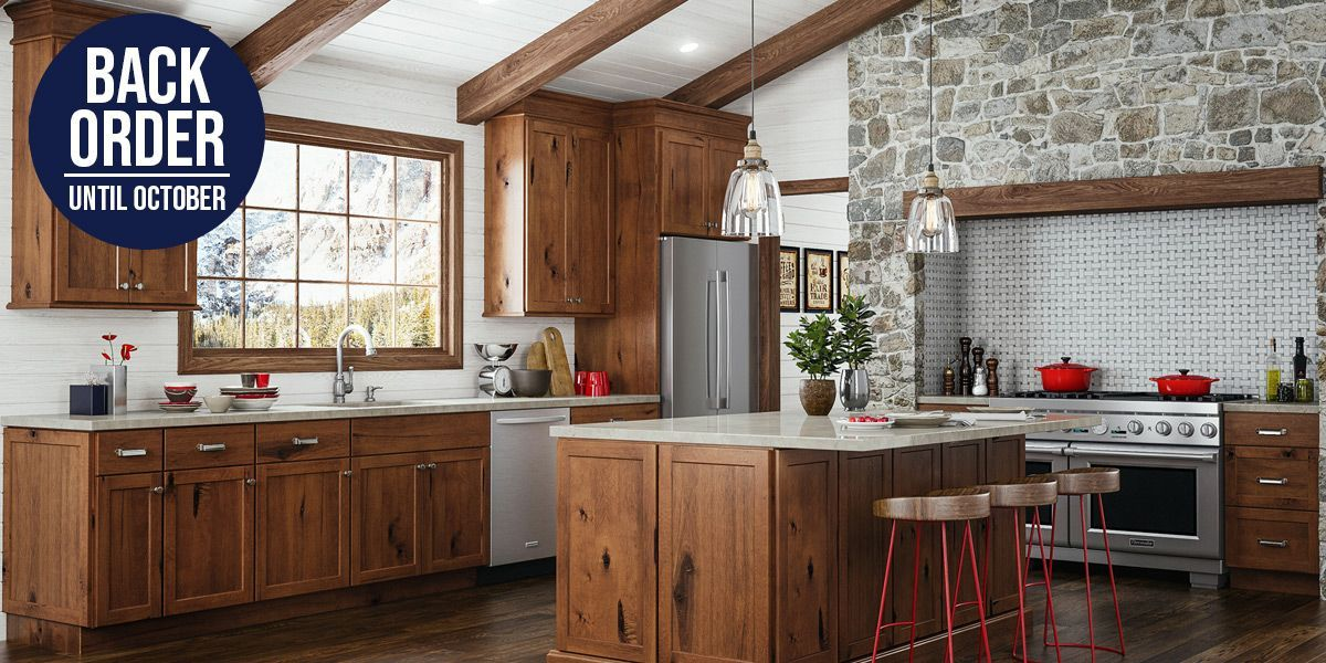 Upton Brown Kitchen Cabinets