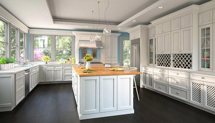 Uptown White Kitchen Cabinets