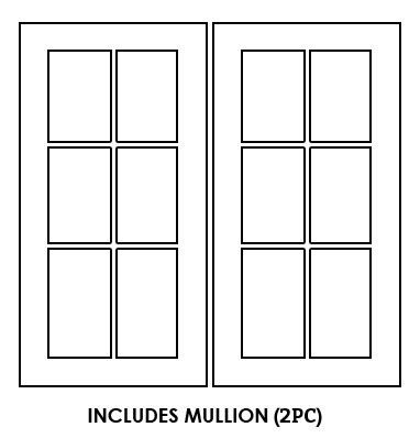 Forevermark-TSG W3636BMGD: Glass Door Set With Clear Glass - Includes Mullion: Midtown Grey RTA Kitchen Cabinet