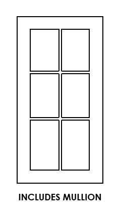 Forevermark-TSG WDC2430MGD: Wall Diagonal Corner Glass Door With Clear Glass - Includes Mullion: Midtown Grey RTA Kitchen Cabinet