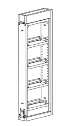 WF3PULL: Wall Filler Pull Out: Branford Recessed RTA Kitchen Cabinet