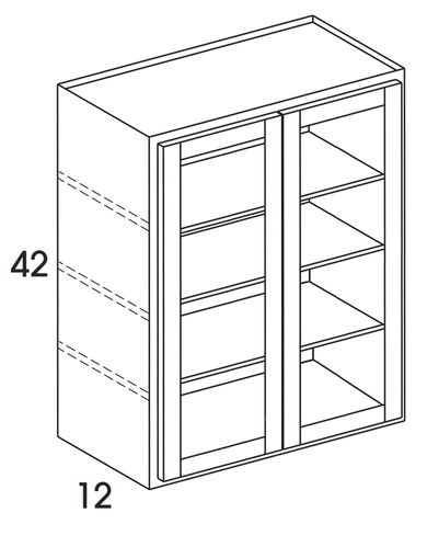 Wmd3042 Wall Cabinet With Doors Prepped For Glass No