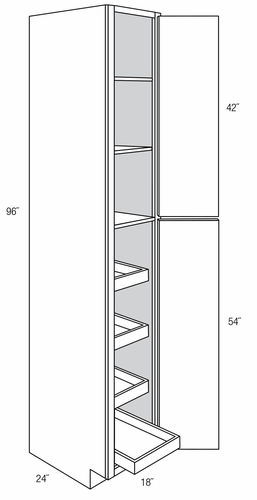 Wp1896rt Tall Pantry Cabinet With Roll Out Trays